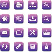 An illustration of web & internet icons set for your web page, presentation, & design products.