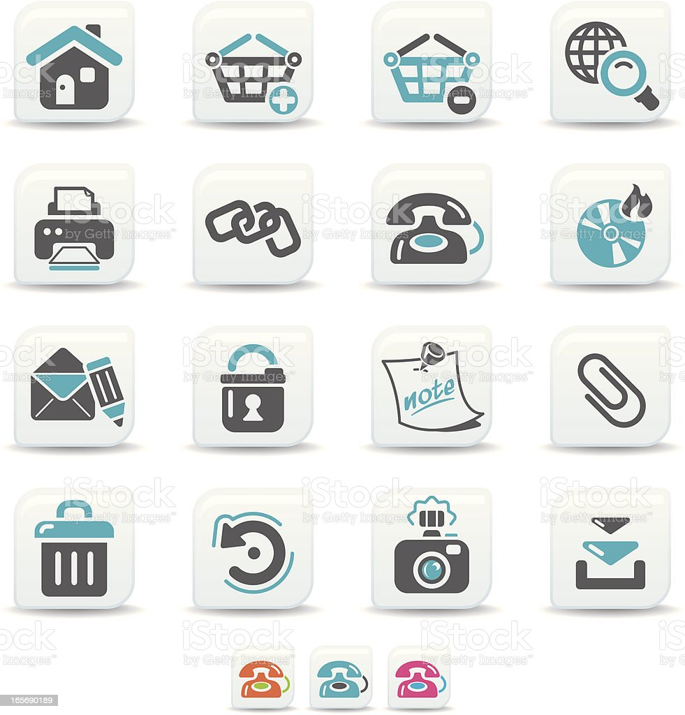 internet icons | simicoso collection royalty-free stock vector art