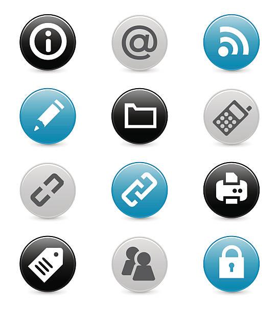 Série d'icônes Internet et perfection - Illustration vectorielle