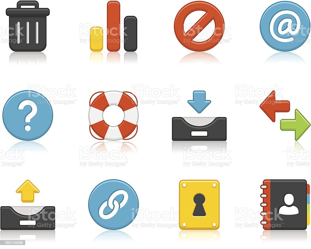 Internet Icons royalty-free stock vector art