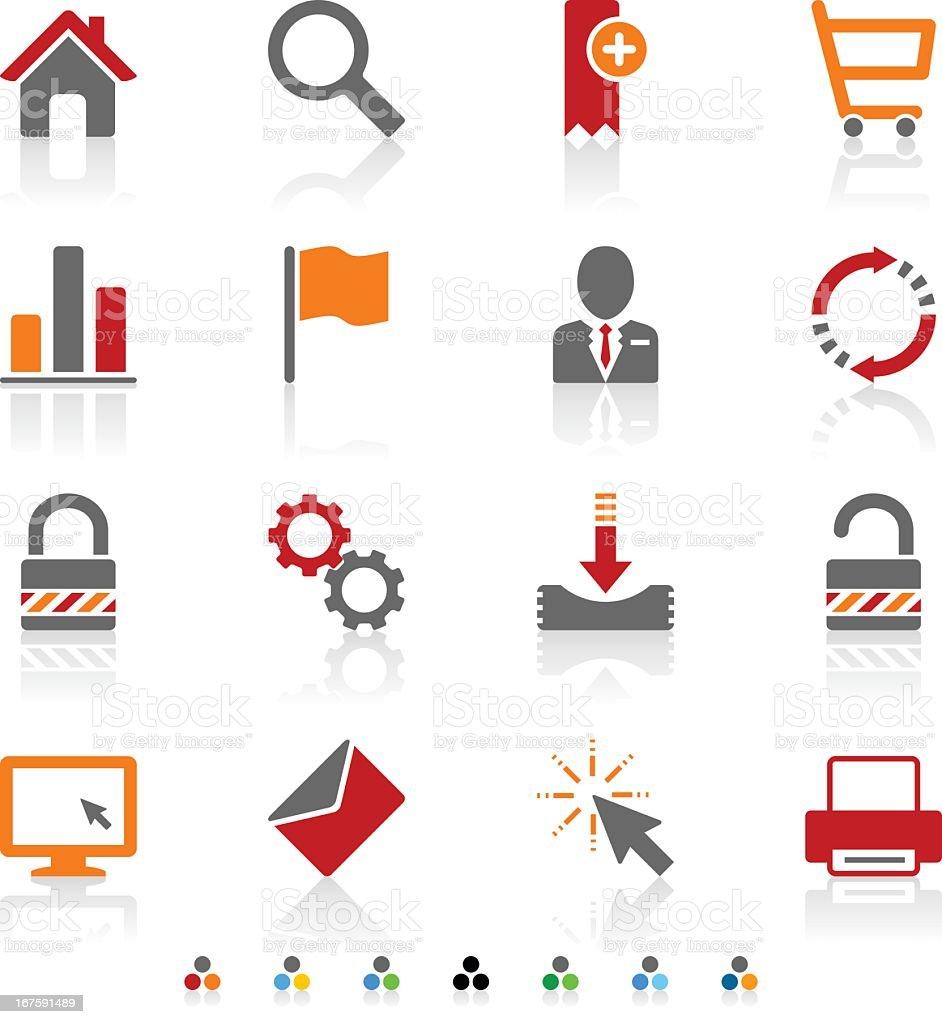 Internet icons royalty-free stock vector art