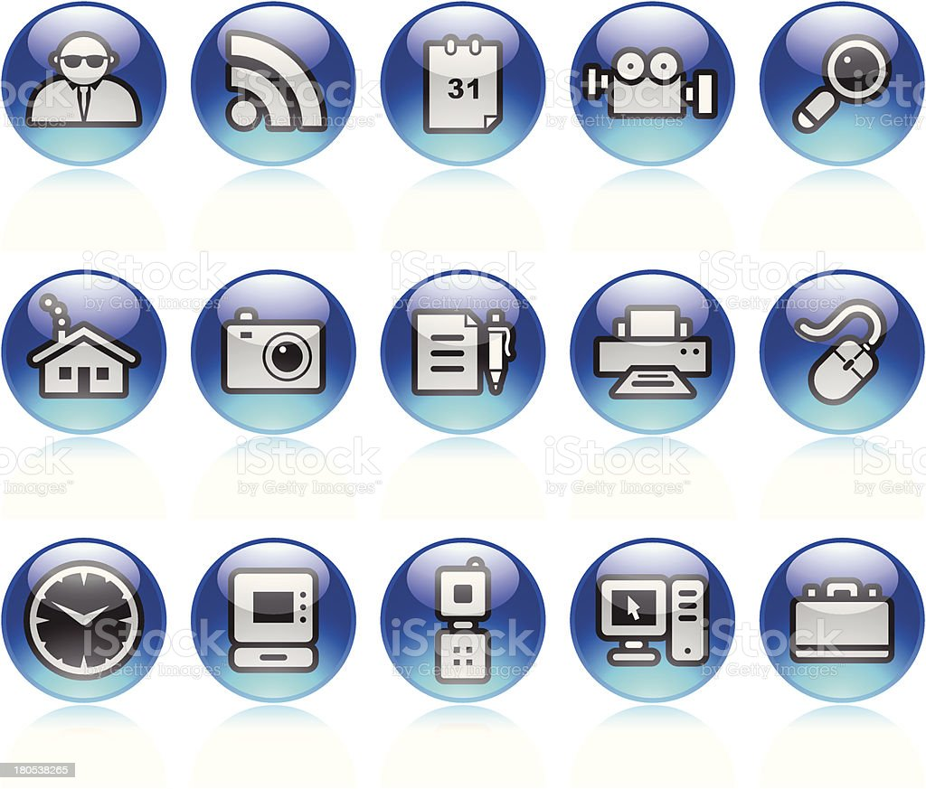 Internet Icons royalty-free internet icons stock vector art & more images of blue