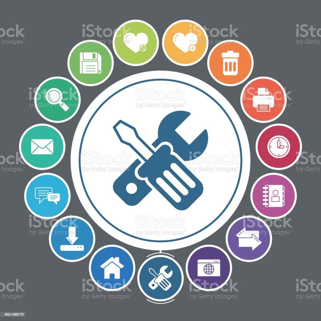 Internet-icons Lizenzfreies interneticons stock vektor art und mehr bilder von adressbuch