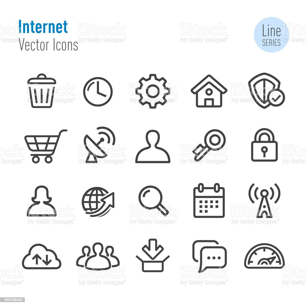 Internet Icons - Vector Line Series