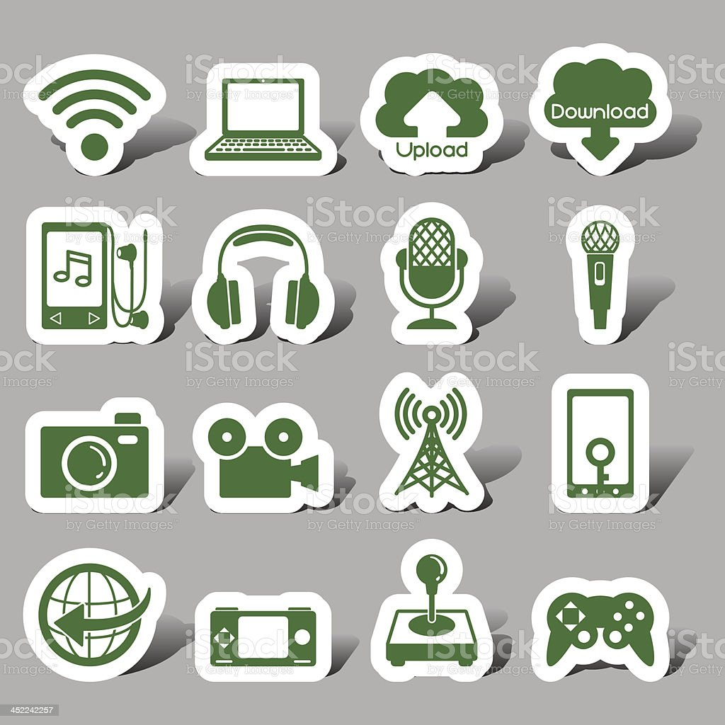 Internet interface icons royalty-free stock vector art