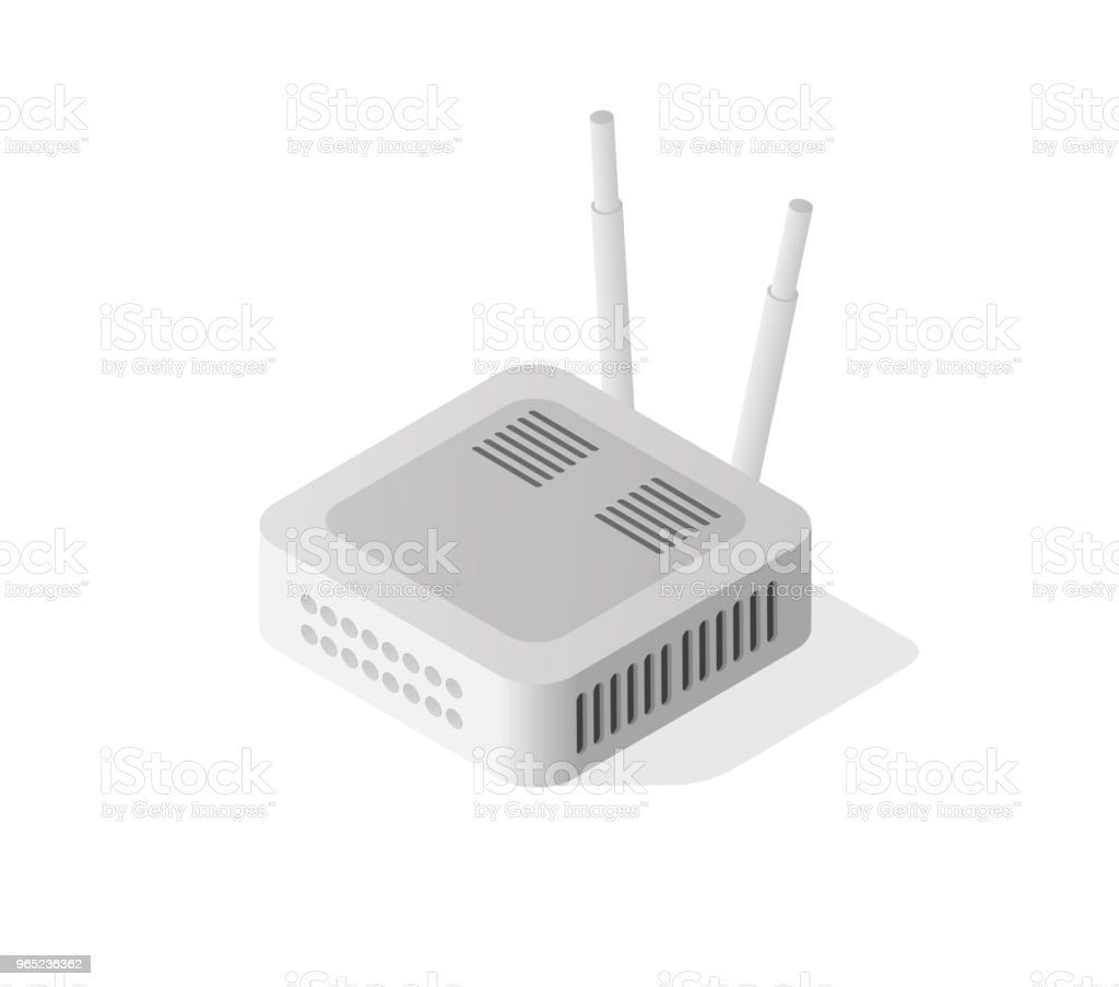 Internet isometric router royalty-free internet isometric router stock vector art & more images of business