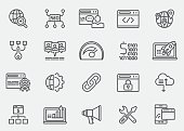 SEO & Internet Line Icons