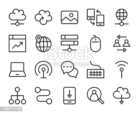 Internet - Line Icons Vector EPS File.