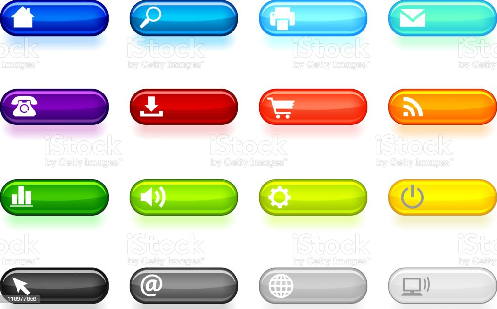 internet liquid buttons set royalty-free internet liquid buttons set stock vector art & more images of 'at' symbol
