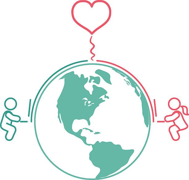 Internet Long Distance Relationship Internet Long Distance Relationship long distance relationship stock illustrations