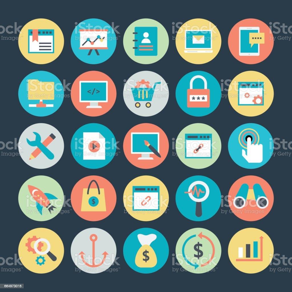 Internet Marketing and Web optimization Vector Icons 2 vector art illustration