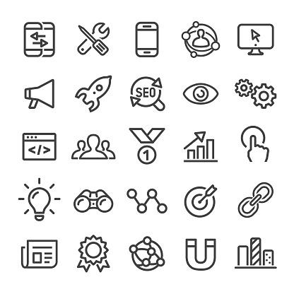 Internet Marketing Icons - Smart Line Series
