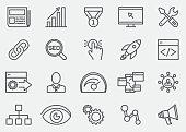 Internet Marketing Line Icons | EPS 10