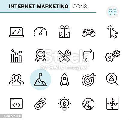 Marketing en Internet - los perfectos iconos Pixel