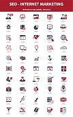 SEO Internet Marketing, Red version,vector