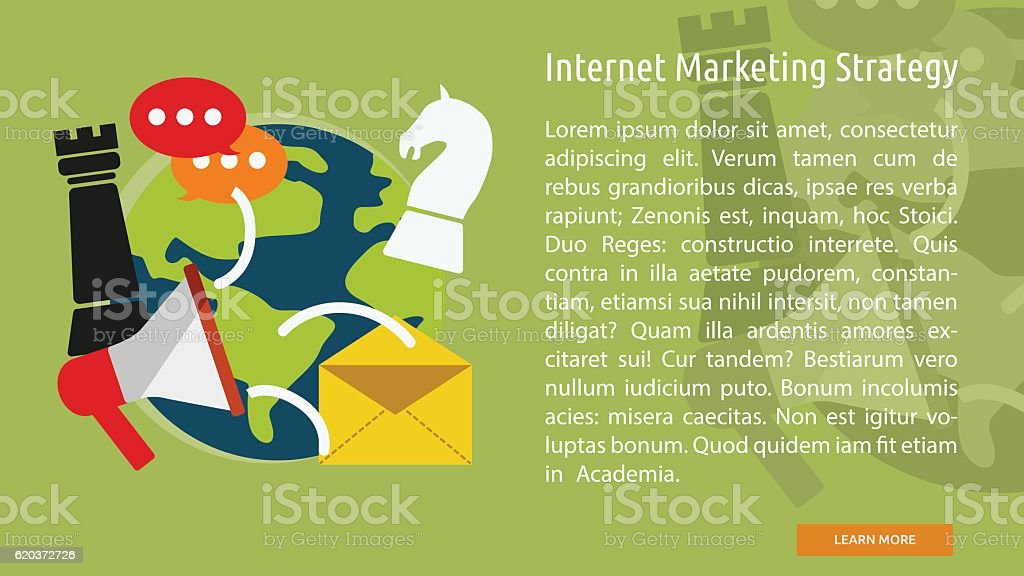Internet Marketing Strategy Conceptual Banner internet marketing strategy conceptual banner - arte vetorial de stock e mais imagens de computador royalty-free