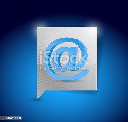 istock Internet message bubble illustration design 1296349206
