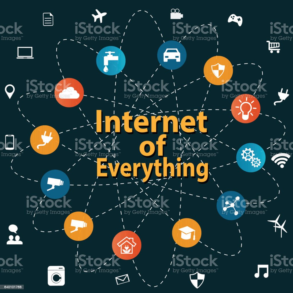 internet of everything concept つながりのベクターアート素材や画像