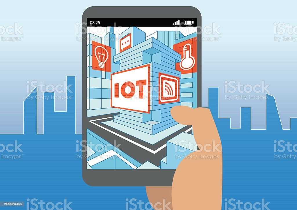 Internet of things (IOT) and mobility concept as vector illustration vector art illustration