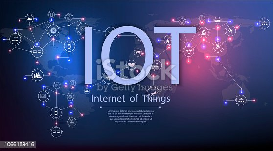 istock Internet of things (IoT) and networking concept for connected devices. 1066189416