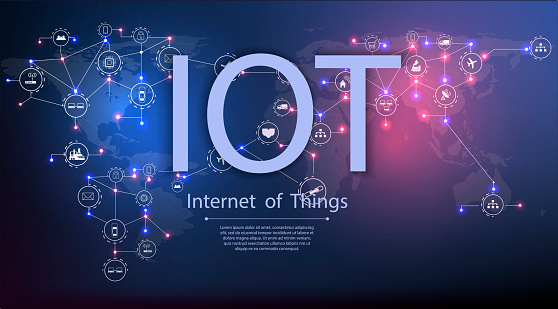613881746 istock photo Internet of things (IoT) and networking concept for connected devices. 1066189416