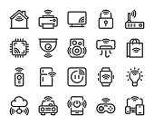 Internet of Things Bold Line Icons Vector EPS File.