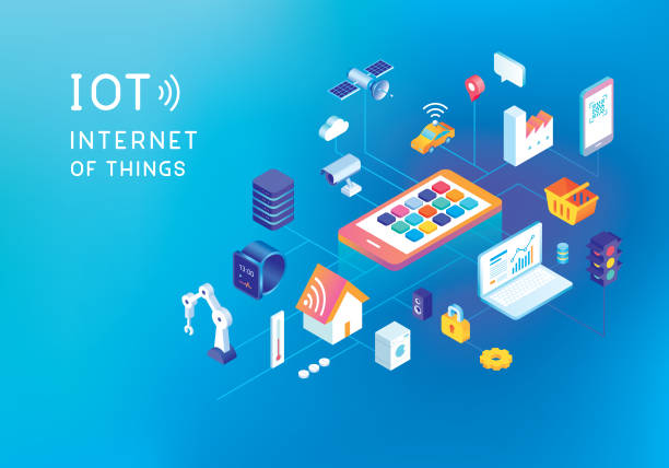 internet of things concept - self driving cars stock illustrations, clip art, cartoons, & icons