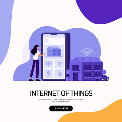 Internet of Things Concept Vector Illustration for Website Banner, Advertisement and Marketing Material, Online Advertising, Business Presentation etc.