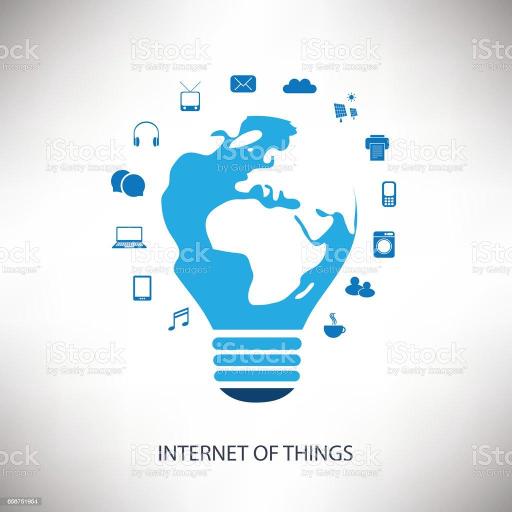 Internet des choses Design Concept avec des icônes - Illustration vectorielle