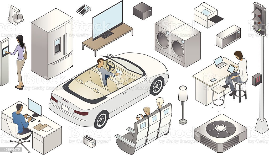 Internet of Things Illustration vector art illustration