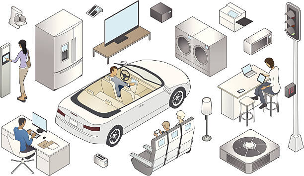 internet of things illustration - mathisworks people icons stock illustrations, clip art, cartoons, & icons