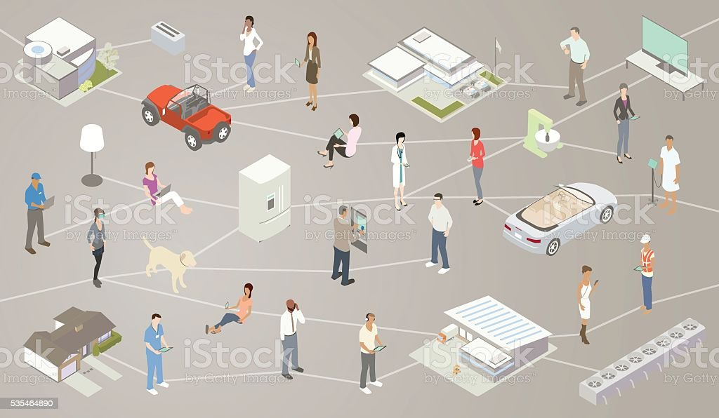 Internet of Things IOT Illustration royalty-free internet of things iot illustration stock vector art & more images of atm
