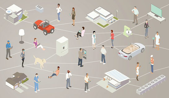 Internet Of Things Iot Illustration Stock Illustration - Download Image Now
