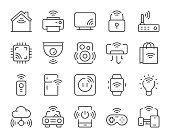Internet of Things Light Line Icons Vector EPS File.