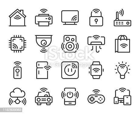 Internet of Things Line Icons Vector EPS File.