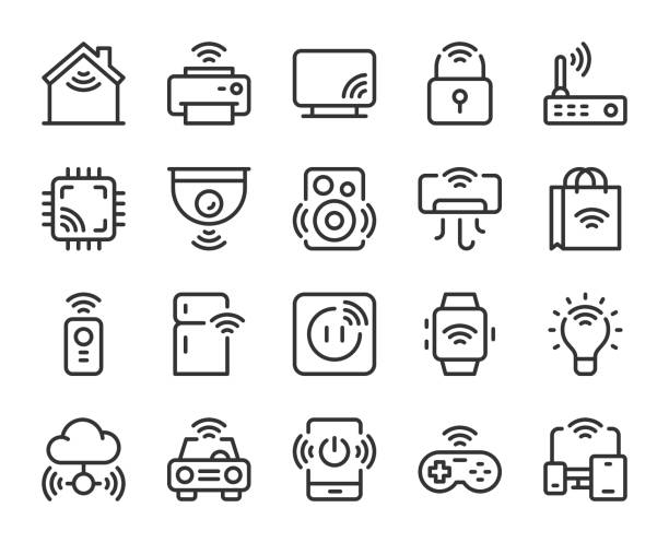 Internet of Things - Line Icons Internet of Things Line Icons Vector EPS File. bluetooth stock illustrations