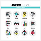 Internet of Things Linero Icons Set