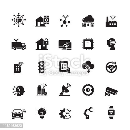 Internet of Things Related Vector Icons