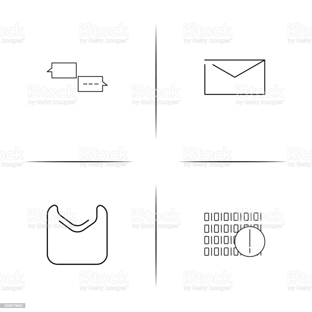 Ilustrao de conjunto de cones linear simples de internet das conjunto de cones linear simples de internet das coisas cones de contorno simples ilustrao de ccuart Gallery