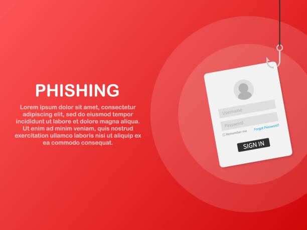 Internet phishing, hacked login and password. Vector illustration. Internet phishing, hacked login and password. Vector stock illustration. phishing stock illustrations