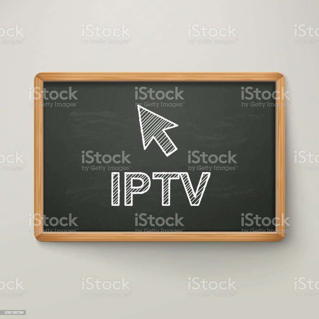 Protocolo De Internet La Televisión En Pizarra De Marco De Madera ...