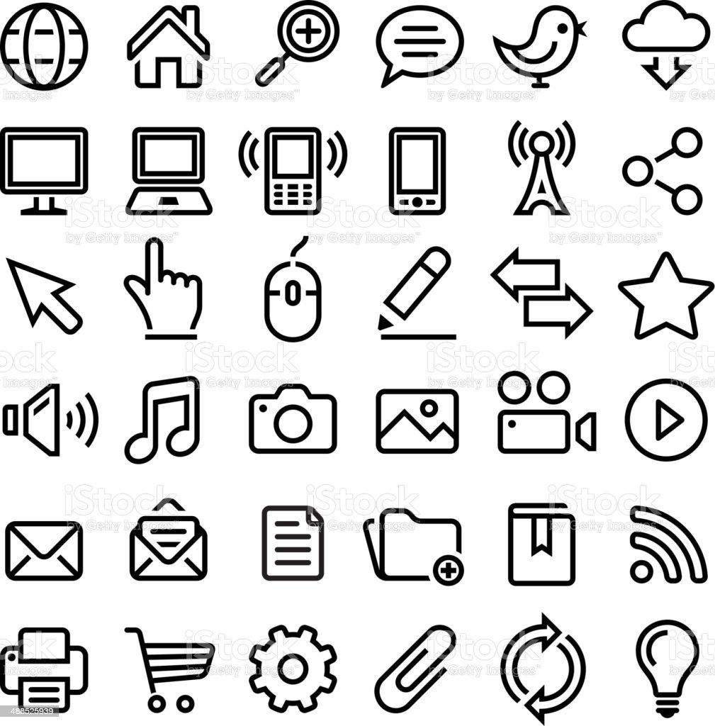 internet royaltyfree vector graphics black and white vector icon