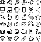 Internet Icons Black and White Icon Set