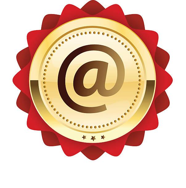 Phoque Internet ou l'icône de symbole @ - Illustration vectorielle