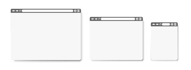 internet araması. düz tarzda - google stock illustrations
