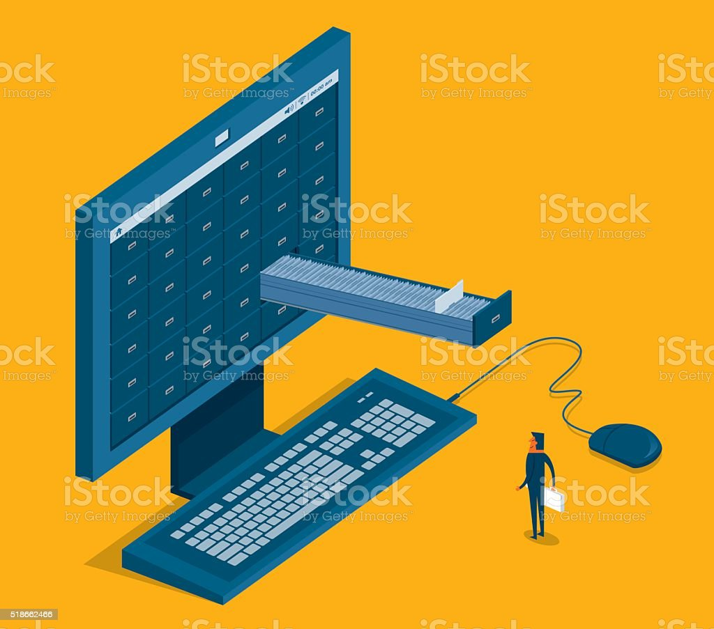 Internet Search vector art illustration