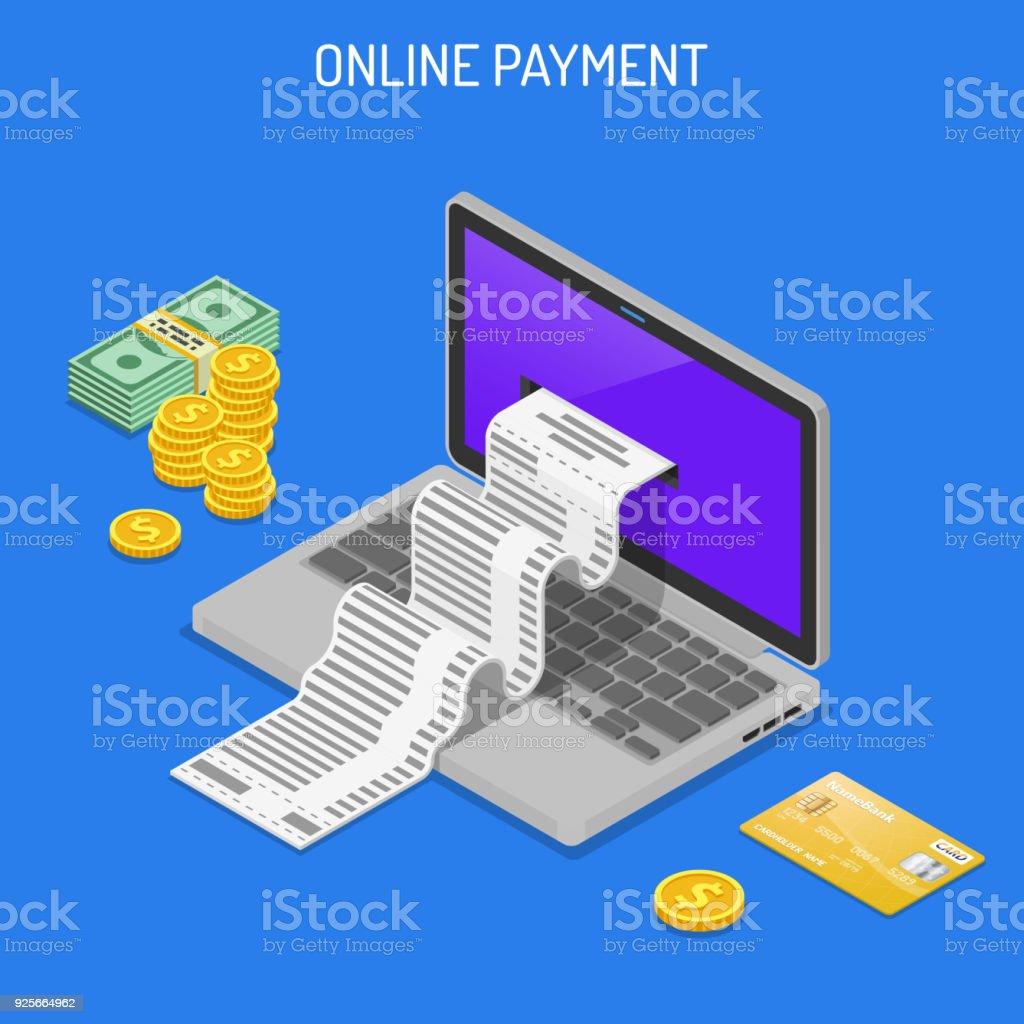 インター ネット ショッピングやオンライン決済の概念 ベクターアートイラスト