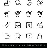 set of simple contour icons in the sketch-style