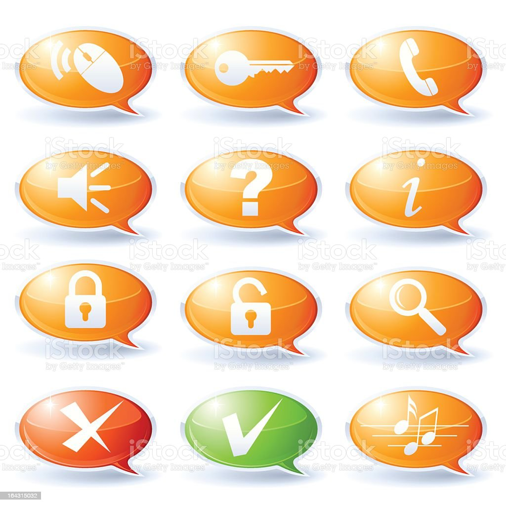 Internet speech bubbles collection royalty-free internet speech bubbles collection stock vector art & more images of assistance