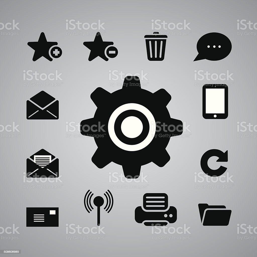 internet symbol vector art illustration